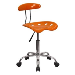 Adjustable Height Stool Mechanic Work Shop Hydraulic Seat Garage Chair Orange