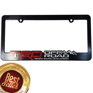 Trd License Plate Frame Toyota Offroad Takoma Fj Cruiser 4x4 Yaris World Rally