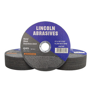 50 Pack 6 X 1 16 X 7 8 Cut off Wheel Cutting Discs Stainless Steel