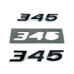 2pc Black 345 Badge Emblem Chrome Trim For Mopar Hemi Passenger Driver Side