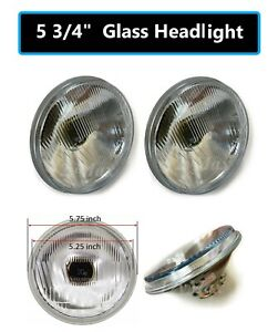 2 Pairs 5 3 4 Round H4 9003 Bulb Conversion Headlight Replace H5001 H5006 Hr05