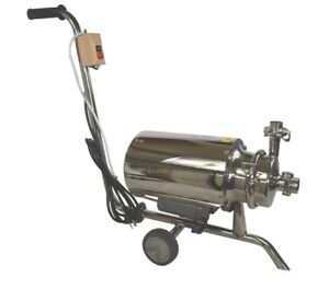 750w Portable Food Grade Centrifugal Pump Sanitary Beverage Pump 3 Ton Stainless
