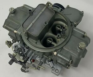 Holley Remanufactured Carburetor 80508 S Shiny Finish 750 Cfm Electric Choke