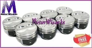 Chevy 350 5 7 Sbc Speed Pro H345dcp20 Pistons 8 pack Hypereutectic Flat Top 020