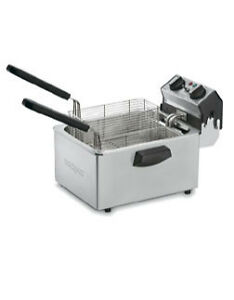 Waring Commercial Electric Deep Fryer Model Wdf75rc Silver