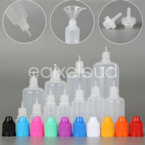 Wholesale 3 120ml Empty Ldpe Plastic Childproof Cap Bottles Eye Liquid Dropper