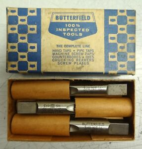 Box Of 3 Butterfield 1500 3 4 10 Nf High Speed Steel Hand Taps H 3 Ground Thread