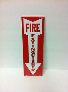 Pack Of 50 New 12x4 Fire Extinguisher Sticker Signs free Shipping