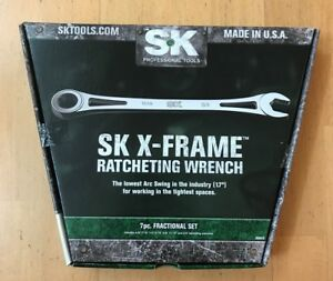 Sk Hand Tools 7 Pc Set 3 8 To 3 4 X Frame 80049 New