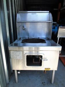 Robert Yick 1 Hole Burner Chinese Wok Range Natural Gas Commercial Restaurant