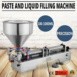 100 1000ml Liquid Filling Filler Machine Paste Stainless Cylinder