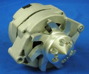 New Alternator Fits Chevy Bbc sbc hot Rod 1 Wire W Billet Pulley 110amp
