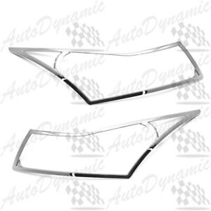 For 2009 2015 Chevy Cruze Chrome Head Lights Cover Covers Trim 2010 2011 2012