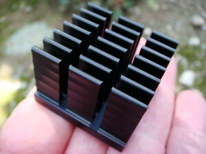 Lot 12 Black Anodized Aluminum Heatsinks 1 375 Sq X 1 Tall New And Unused
