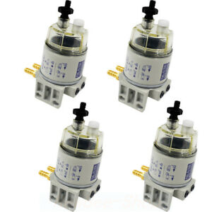 4x Racor Diesel Fuel Filter water Separator replacement R12t For Marine Spin on