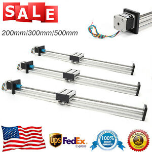 Cnc Linear Slide Rail Guide 200 500mm Travel Sliding Block With 42 Stepper Motor