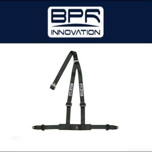 Sparco Street Black 2 In 3 Point Harness Pull Down Style 04608bvnr