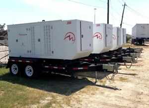 Qty 4 New Surplus Magnum Mgg200 200kw Natural Gas propane Portable Generators