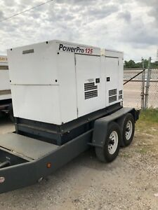 2012 Mmd Powerpro Sdg125 100kw Trailered Diesel Generator Load Bank Tested