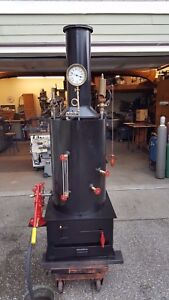 Steam Engine Boiler Hand Pump Whistle Gauge Off Grid Live Steam Engine