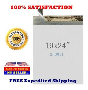 19x24 Poly Mailers Envelope Self Sealing Shipping Mailing Bags St Shipmailers