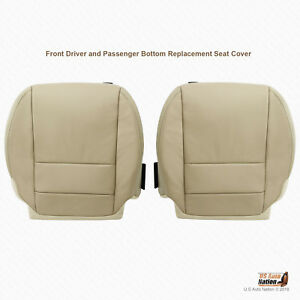 Driver Passenger Bottoms Leather Seat Cover Tan For 2007 2008 2009 Acura Mdx