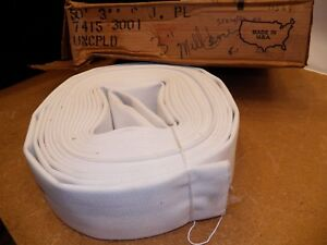 Nos 3 X 50 Lay flat White Mill Water Discharge Hose Bulk Hose No Ends Made Usa