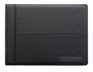 Leather 7 ring Business Checkbook Binder Money Organizer Use 3 Checks Per Page