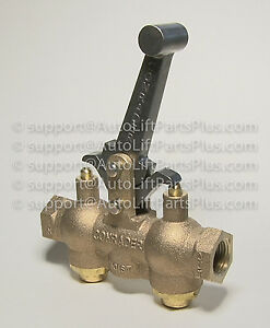 Locking Air Control Valve For In Ground Auto Lifts