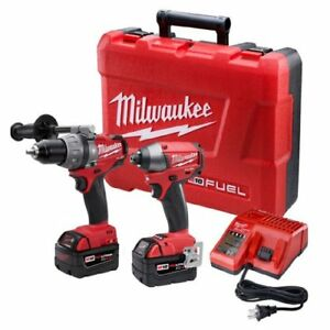 New Milwaukee 2797 22 M18 Fuel Lithium ion Drill Driver Impact Kit