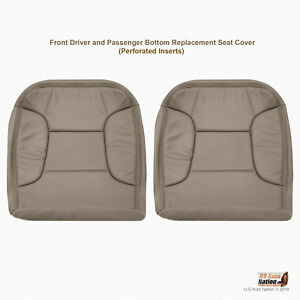 1994 1995 1996 Ford Bronco Driver passenger Bottom Synth Leather Tan Seat Cover