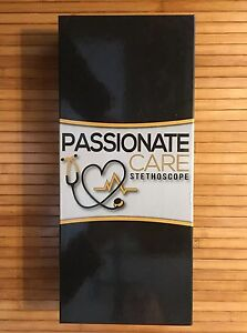 Cardiology Stethoscope Passionate Care Brand New Black