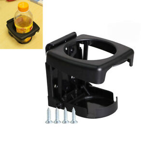 Black Universal Adjustable Folding Cup Drink Holder For Car Truck Boat Camper Rv