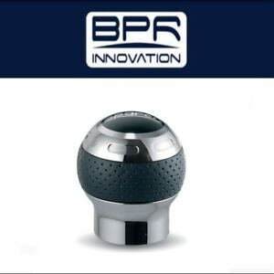 Sparco Globe Shift Knob Chrome Wrapped In Perforated Leather 03745ptn