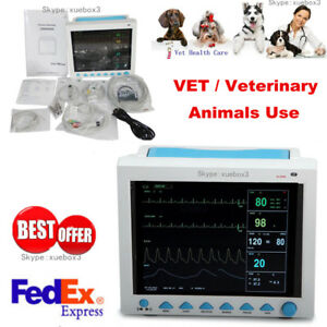 Veterinary Patient Monitor Vital Signs Ecg Nibp Spo2 Resp Temp Pr portable Pets