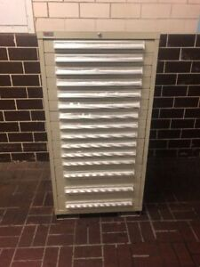 Lyon Mss Ii 15 Drawer Industrial Parts Tools Cabinet With Electrical Components