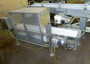 Stainless Steel 8 X 12 Conveyor With Plastic Belt
