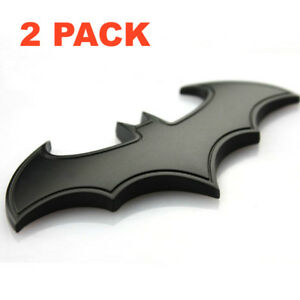 2x 3d Metal Batman Dark Knight Batwing Sticker Decal Emblem Badge Car