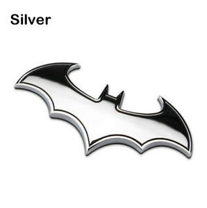 3d Metal Batman Dark Knight Batwing Sticker Decal Emblem Badge Car silver