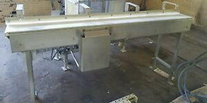 Stainless Steel 7 2 X 15 Conveyor With Plastic Belt