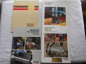 4 Monarch Machine Tool Catalogs 1979 1981 vmc 75 150 cnc Turning tci Chucker lot