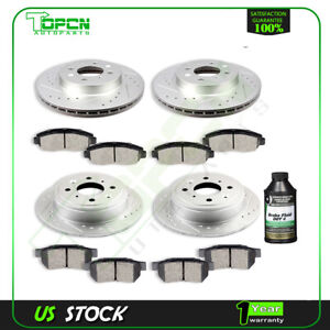 Fit 1996 2000 Honda Civic Ex 99 00 Si Front And Rear Brake Rotors Ceramic Pads