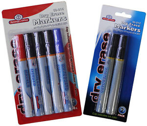 Whiteboard Markers Dry erase Black Multicolored Home School Office