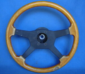 Nuova Raid Italy 15 4 Spoke Wood Steering Wheel Porsche Bmw Mb road Racer