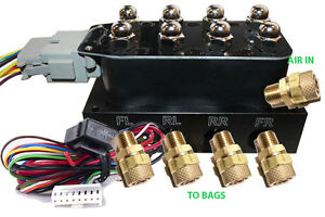 Accu X4 Solenoid Valve Manifold Airride Suspension Control Wiring Harness Fit1 4