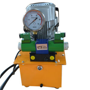 2 Stage Double Acting Electric Hydraulic Pump Power Pack 110v 10k Psi Hydraul