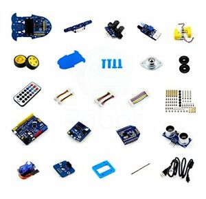 Smart Car Building Kit With Bluetooth For Arduino Uno Plus