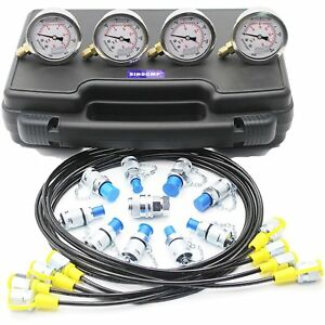 Hydraulic Pressure Gauges Kit Upgraded Version Excavator Hydraulic Gauge Kit