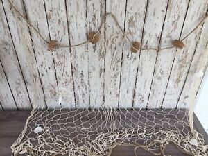 3 X5 Decorative Fish Net W Shells Cork Floats Luau Party Nautical Theme