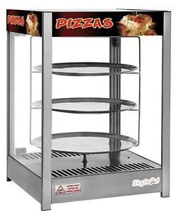 Commercial Countertop Heated Pizza Display Merchandiser 18 Pies